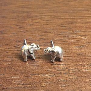 Jewelry - Silver Elephant Earrings!! So cute!!